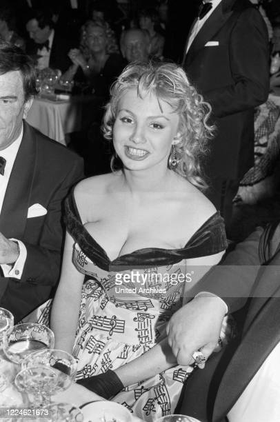 German actress Dolly Dollar at the Deutscher Filmball on January 11th 1981 at Munich Germany 1980s