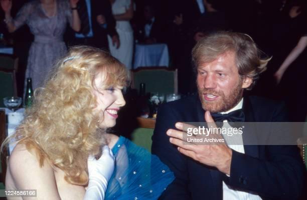 German actress Dolly Dollar with Raimund Harmstorf, Germany, 1980s.