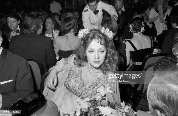 German actress Doris Kunstmann at the Deutscher Filmball on January 16th 1976 at Munich Germany 1970s