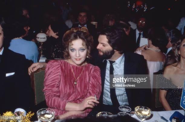 German actress Doris Kunstmann with her husband Michael Fuhrmann Germany 1980s