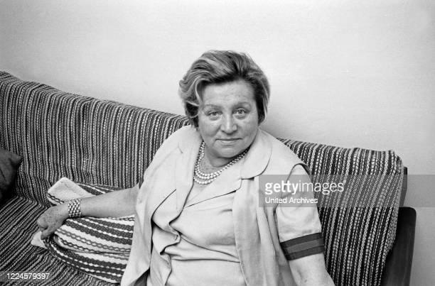 German actress Doris Verhoeven Kiesow, Germany, 1960s.