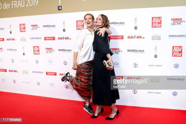 German actress Elena Uhlig and German actress Lara Joy Körner attend the annual Goldene Bild der Frau award on October 23 2019 in Hamburg Germany