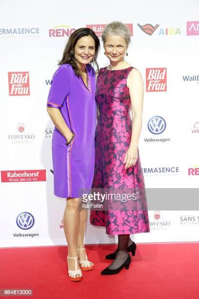 German actress Elisabeth Lanz and award winner Julia Cissewski attend the 'Goldene Bild der Frau' award at Hamburg Cruise Center on October 21, 2017...