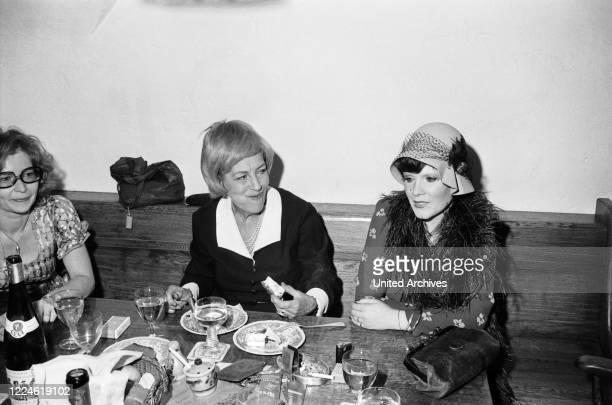 German actress Elisabeth Volkmann Germany 1970s