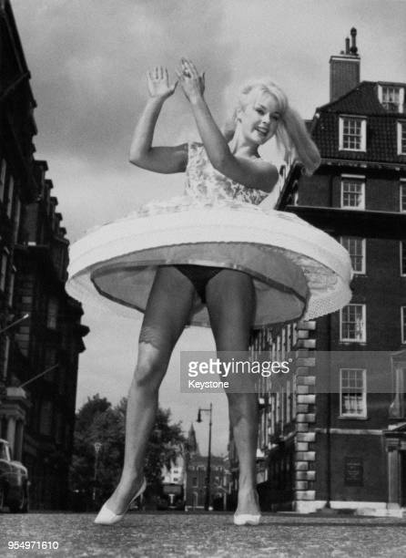 German actress Elke Sommer after her arrival in London, 4th September 1960. She is in the UK to work on the film 'Don't Bother to Knock'.
