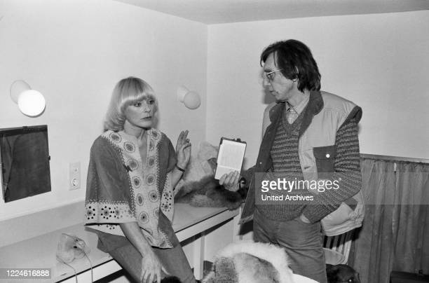 German actress Elke Sommer and photographer Heinz Browers at Bad Reichenhall, Germany, 1970s.