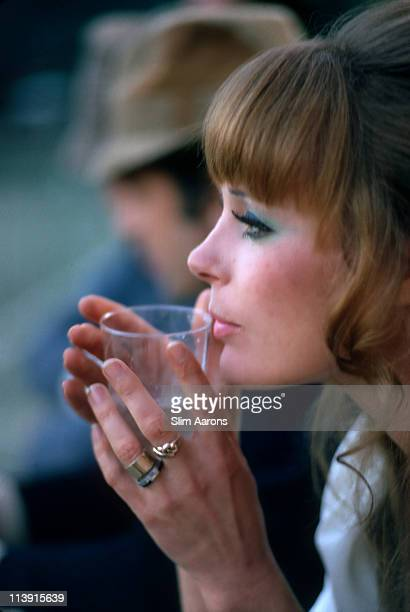 German actress Elke Sommer at a procelebrity tennis tournament at Le Club International Fort Lauderdale Florida February 1970