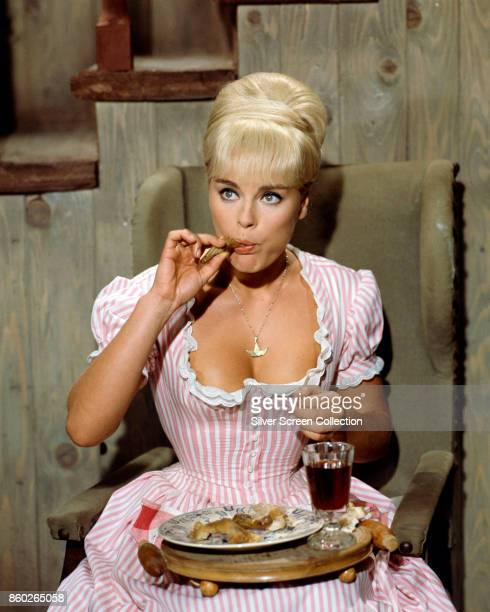 German actress Elke Sommer in a scene from 'Unter Geiern,' also known as 'Amongst Vultures' and 'Frontier Hellcat' , 1964.