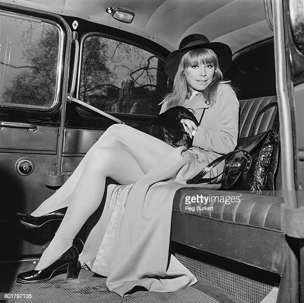 German actress Elke Sommer on her way to rehearse for a part in a television show, UK, 14th March 1970.
