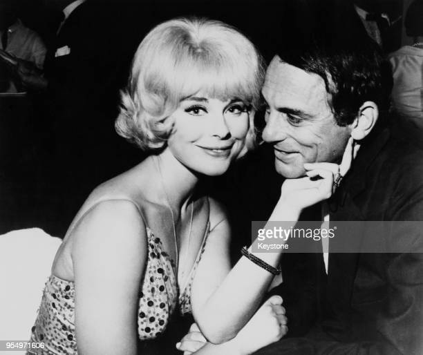 German actress Elke Sommer with her husband American journalist Joe Hyams at the annual awards banquet of the Screen Producers' Guild at the Beverly...