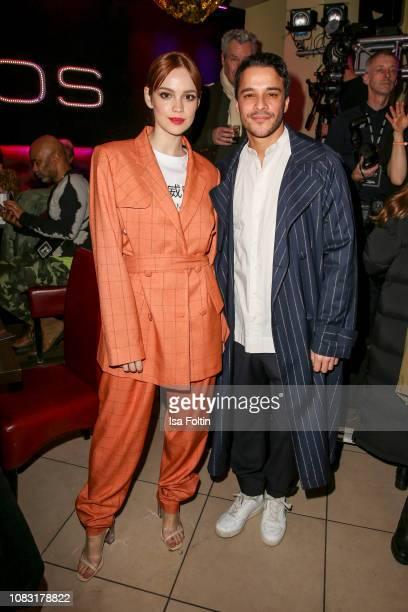 German actress Emilia Schuele and German actor Kostja Ullmann during the William Fan Defile during 'Der Berliner Salon' Autumn/Winter 2019 at...
