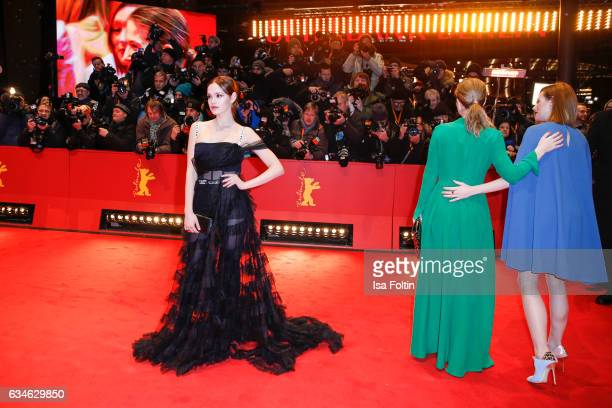 German actress Emilia Schuele attends the 'Django' premiere during the 67th Berlinale International Film Festival Berlin at Berlinale Palace on...