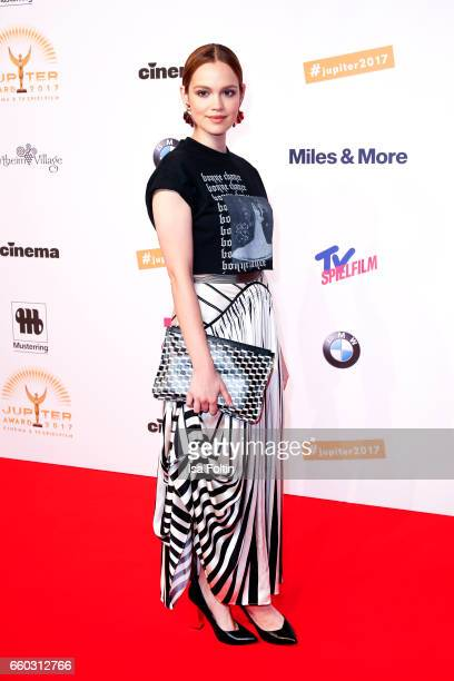 German actress Emilia Schuele attends the Jupiter Award at Cafe Moskau on March 29 2017 in Berlin Germany