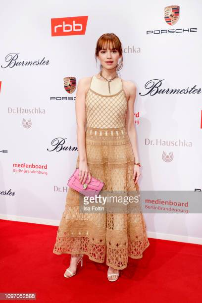 German actress Emilia Schuele attends the Medienboard Berlin-Brandenburg Reception on the occasion of the 69th Berlinale International Film Festival...