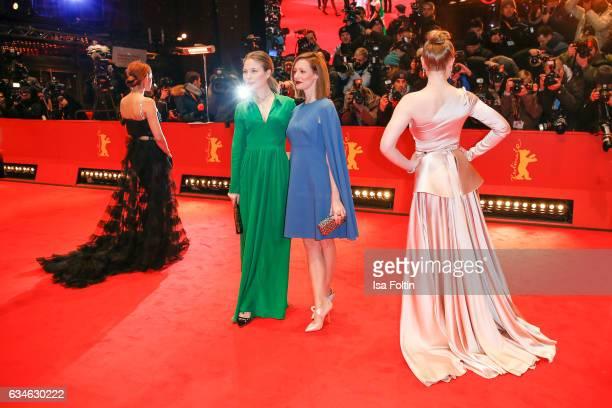 German actress Emilia Schuele german actress Nora von Waldstaetten german actress Lavinia Wilson and german actress Maria Dragus attend the 'Django'...