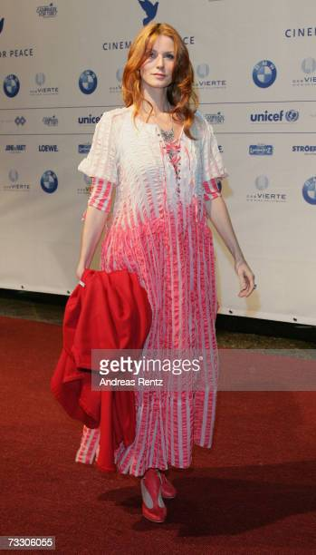 German actress Esther Schweins attends the Cinema for Peace Charity Gala on 12 February 2007 in Berlin Germany The gala is traditionally held during...