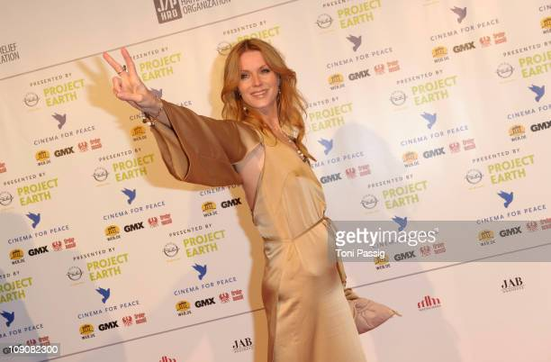 German actress Esther Schweins attends the Cinema for Peace Gala at the Konzerthaus am Gendarmenmarkt during day five of the 61st Berlin...