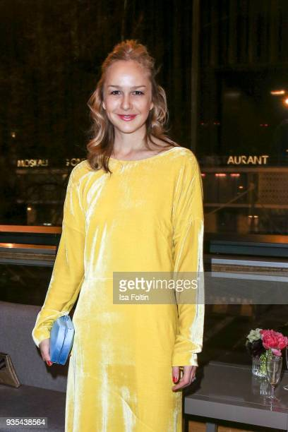 German actress Esther Seibt attends the Deutscher Hoerfilmpreis at Kino International on March 20 2018 in Berlin Germany