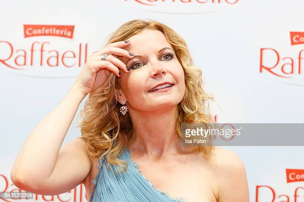 German actress Eva Imhof attends the Raffaello Summer Day 2016 to celebrate the 26th anniversary of Raffaello on June 24 2016 in Berlin Germany