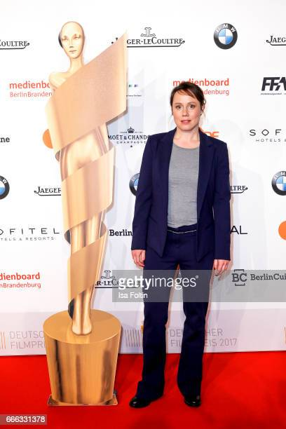 German actress Eva Loebau attend the nominee dinner for the German Film Award 2017 Lola at BMW Niederlassung Berlin on April 8 2017 in Berlin Germany