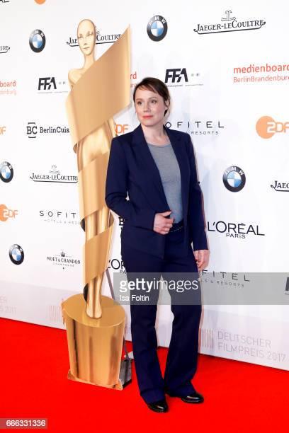 German actress Eva Loebau attends the nominee dinner for the German Film Award 2017 Lola at BMW Niederlassung Berlin on April 8 2017 in Berlin Germany