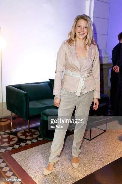 German actress EvaMaria Grein von Friedl arrives for the Blue Hour Party hosted by ARD during the 70th Berlinale International Film Festival at...