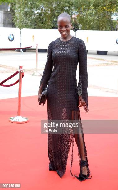 German actress Florence Kasumba attends the Lola German Film Award red carpet at Messe Berlin on April 27 2018 in Berlin Germany