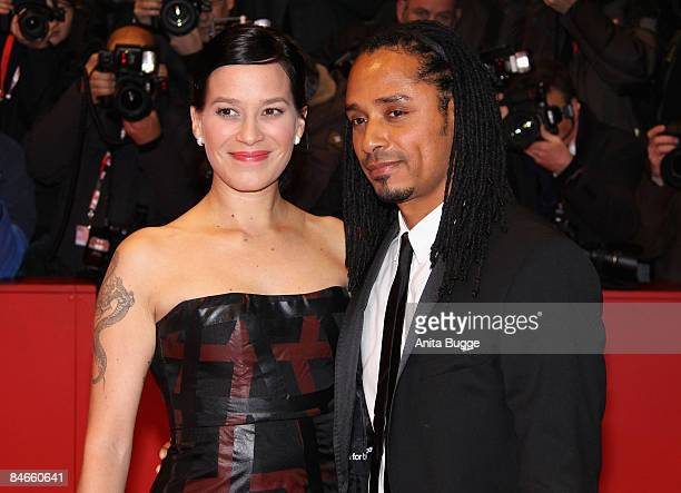 """German actress Franka Potente and her partner Dio attend the """"The International"""" premiere and Opening Ceremony during the 59th Berlin International..."""
