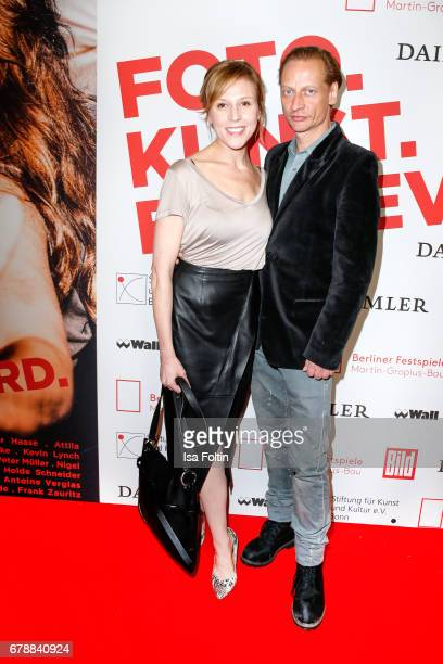 German actress Franziska Weisz and german actor Victor Schefe attend the 'Foto.Kunst.Boulevard' opening at Martin-Gropius-Bau on May 4, 2017 in...