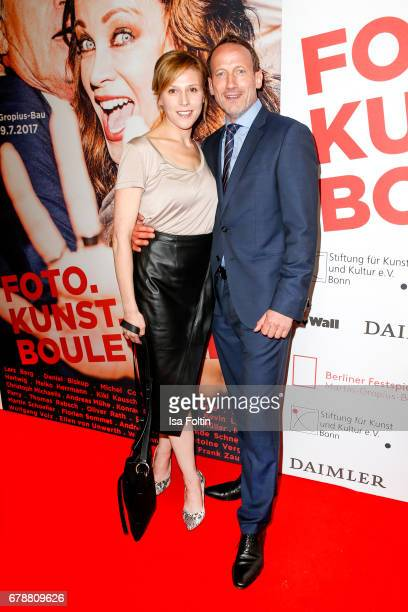 German actress Franziska Weisz and german actor Wotan Wilke Moehring attend the 'FotoKunstBoulevard' opening at MartinGropiusBau on May 4 2017 in...