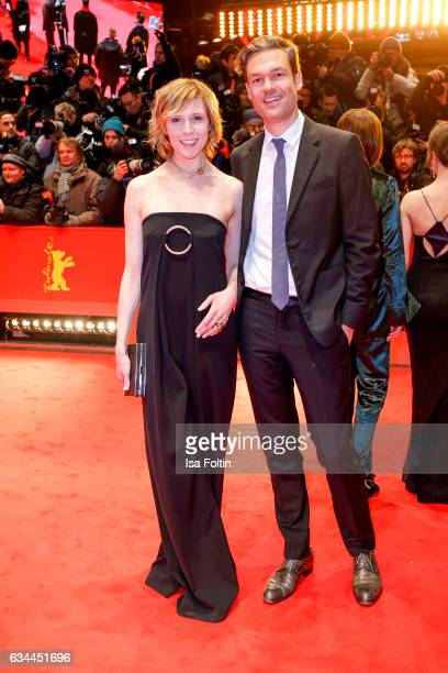 German actress Franziska Weisz and her husband Felix Herzogenrath attend the 'Django' premiere during the 67th Berlinale International Film Festival...