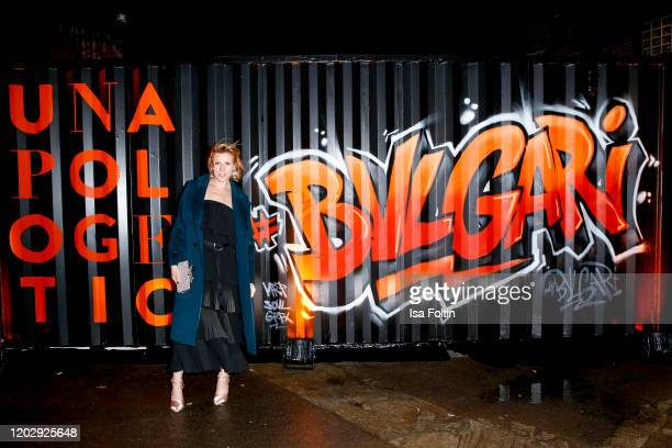 """German actress Franziska Weisz at the """"Unapologetic Night"""" by BVLGARI x Constantin Film at BVLGARI CLVB on February 23, 2020 in Berlin, Germany."""