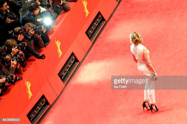 German actress Franziska Weisz attends the closing ceremony of the 67th Berlinale International Film Festival at Berlinale Palace on February 18,...