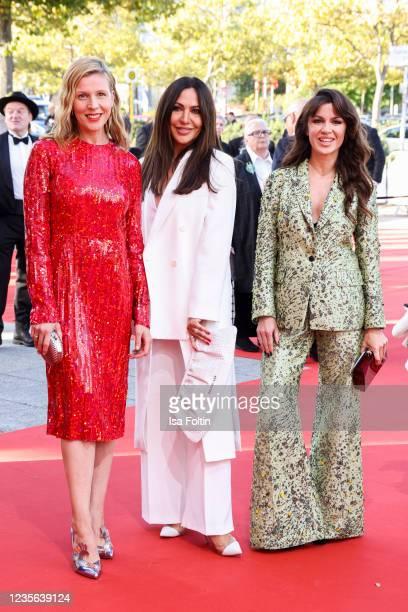 German actress Franziska Weisz, German actress Simone Thomalla and German actress Natalia Avelon attend the Lola - German Film Award red carpet at...