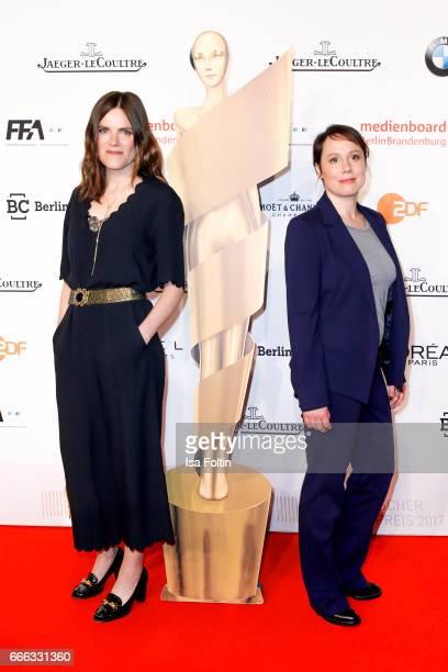 German actress Fritzi Haberlandt and german actress Eva Loebau attend the nominee dinner for the German Film Award 2017 Lola at BMW Niederlassung...