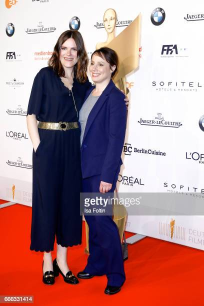 German actress Fritzi Haberlandt and german actress Eva Loebau attend the nominee dinner for the German Film Award 2017 Lola at BMW Niederlassung...