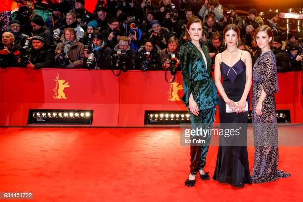German actress Fritzi Haberlandt german actress Aylin Tezel and german actress Liv Lisa Fries attend the 'Django' premiere during the 67th Berlinale...