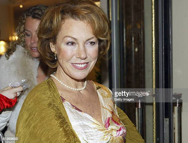 German actress Gaby Dohm attends the Bavarian Film Awards Ball following yesterday's Awards at Hotel Bayerischer Hof on January 15 2005 in Munich...