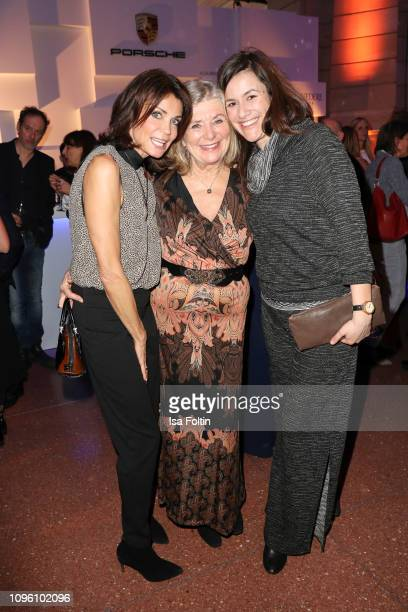 German actress Gerit Kling and German actress Jutta Speidel with her daughter Antonia Speidel attend the Blue Hour Party hosted by ARD during the...