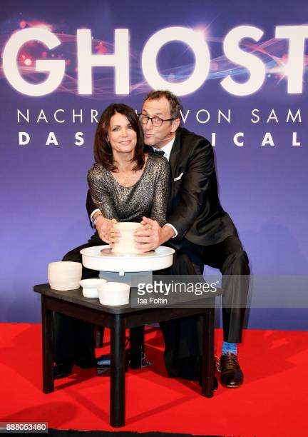 German actress Gerit Kling and her husband Wolfram Becker during the premiere of 'Ghost - Das Musical' at Stage Theater on December 7, 2017 in...
