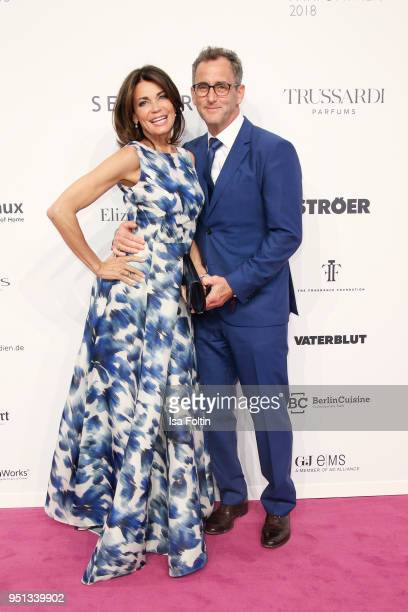 German actress Gerit Kling and her husband Wolfram Becker during the Duftstars at Flughafen Tempelhof on April 25 2018 in Berlin Germany