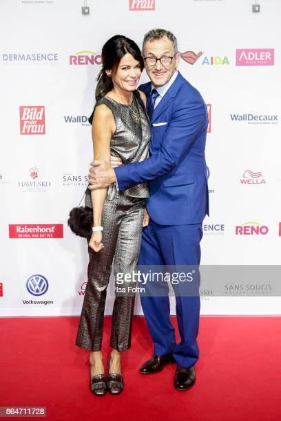 German actress Gerit Kling and her partner Wolfram Becker attend the 'Goldene Bild der Frau' award at Hamburg Cruise Center on October 21, 2017 in...