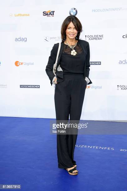 German actress Gerit Kling attends the summer party 2017 of the German Producers Alliance on July 12, 2017 in Berlin, Germany.