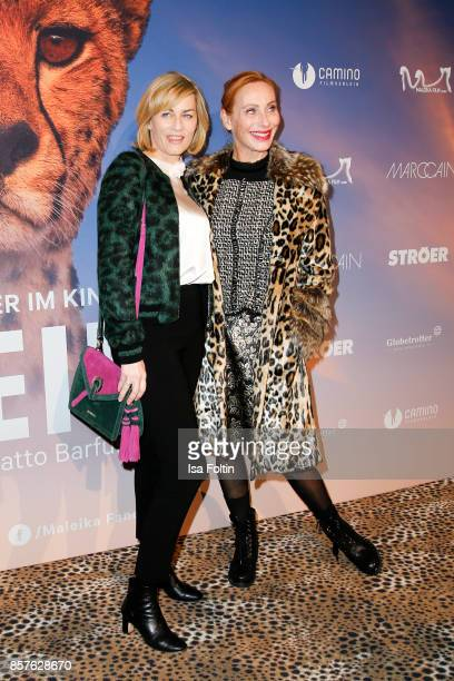 German actress Gesine Cukrowski and German actress Andrea Sawatzki attend the 'Maleika' Film Premiere at Zoo Palast on October 4 2017 in Berlin...
