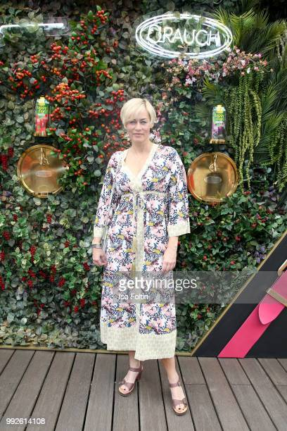 German actress Gesine Cukrowski attends The Fashion Hub during the Berlin Fashion Week Spring/Summer 2019 at Ellington Hotel on July 5 2018 in Berlin...