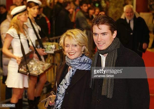 """German actress Gisela Schneeberger and her son Philipp Muellerattends the Premiere of new German film """"Vom Suchen Und Finden Der Liebe"""" at Mathaeser..."""