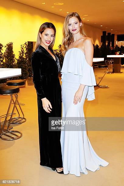 German actress Gizem Emre and model Charlott Cordes attend the 23rd Opera Gala at Deutsche Oper Berlin on November 5 2016 in Berlin Germany