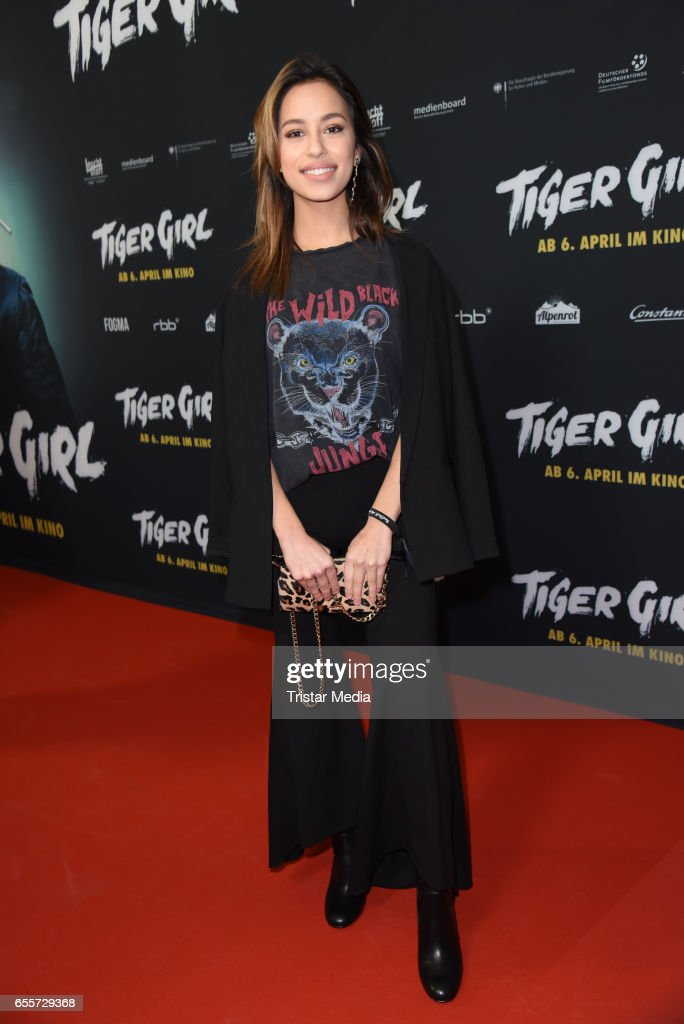German actress Gizem Emre attends the premiere of the film 'Tiger Girl' at Zoo Palast on March 20, 2017 in Berlin, Germany.