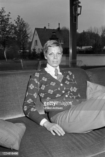 German actress Grit Boettcher at home Germany 1970s