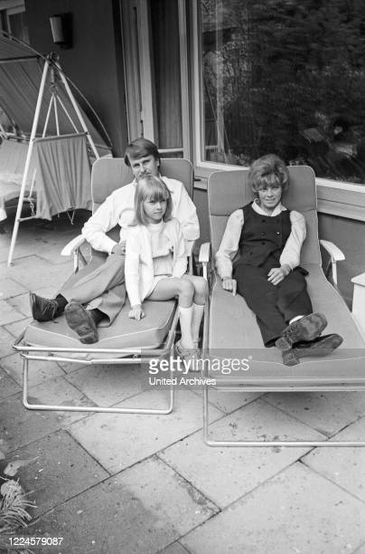 German actress Grit Boettcher with husband Christian Woelffer and daughter Nicole Germany 1960s